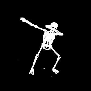 Dabbing Skeleton. Skelett Bones Schädel