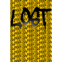 """KEEP OFF"" Do Not Cross - Lost Graffiti Design"
