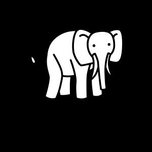 Kleines Trampeltier kleiner Elefant für Kinder