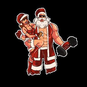 Fitness Weihnachtsmann Geschenk Geschenkidee