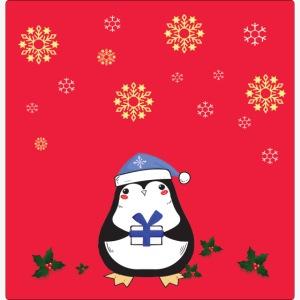 pingouin fond rouge