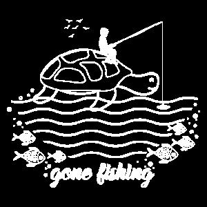 Fischen Angelrute Schildkröte Angeln