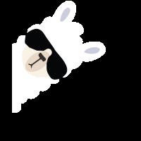 Alpaka Lama T-Shirt lustige mit Sonnenbrille
