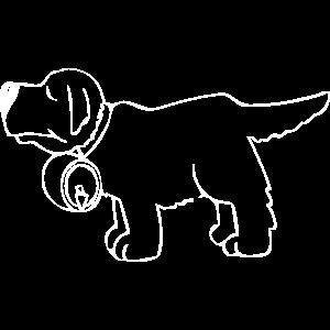 Lustiger Hund mit Fass