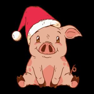 Weihnachten Schwein Ferkel Tier Geschenk