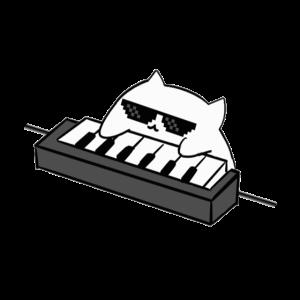 Coole Bongo Cat Coole Katze Geschenk Keyboard