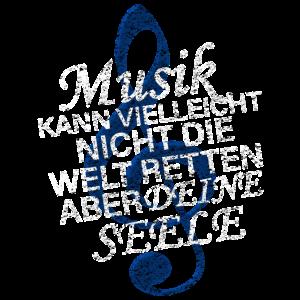 Cooles Musik Note Notenschlüssel Seele Geschenk