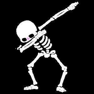 Tupfendes Skelett