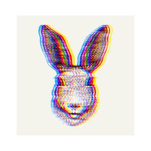 3D Hase / Rabbit / Bunny Effekt Print Quadratisch