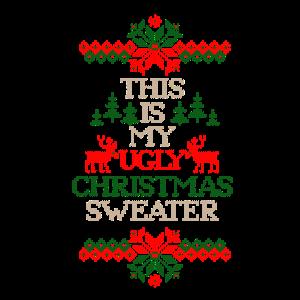 Dies ist meine hässliche Weihnachtsstrickjacke festlich