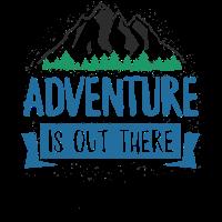 Abenteuer ist draußen TShirt - Wandern Camping