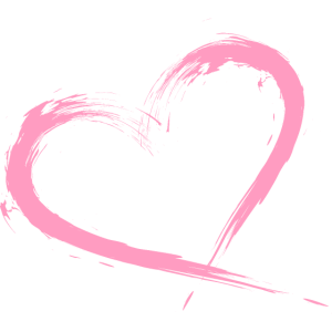 Herz Bürste Rosa Vektorgrafik