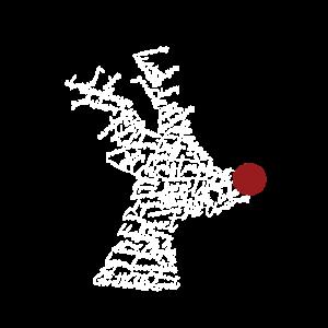 Weihnachten Rudolph Silhouette aus Wörtern