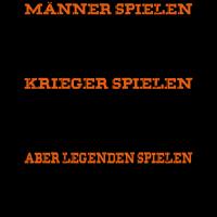 Legenden spielen Darts schwarz orange