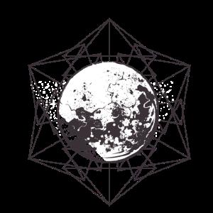 Mond in geometrischer Figur