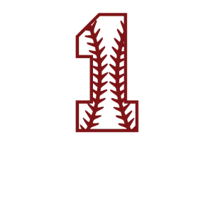 Baseball Zahl Eins Baseballspiel Geschenk