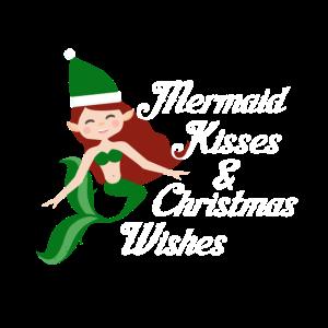 Meerjungfrau wünsch frohe Weihnachten Geschenkidee