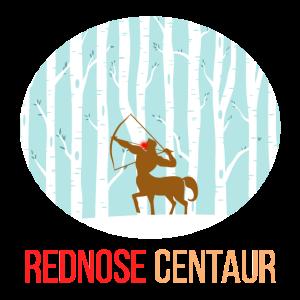 Kentaur mit roter Nase Weihnachtsgeschenk Idee