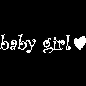Süsser Baby Girl Aufdruck in Weiss als Geschenk