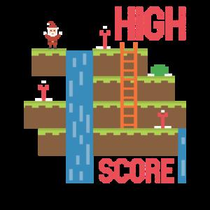 Weihnachtsmann Gaming Level High Score