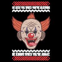 Weihnachten Killer Clown Ugly Sweater