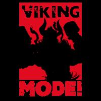 VIKING MODE Power Lifting Bearded Viking Dad Idee