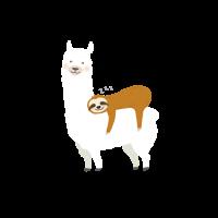 Alpaka mit Faultier