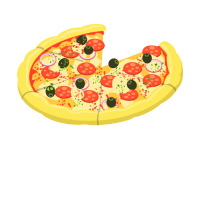 Vater Sohn Partnerlook Pizza Stück Geschenk