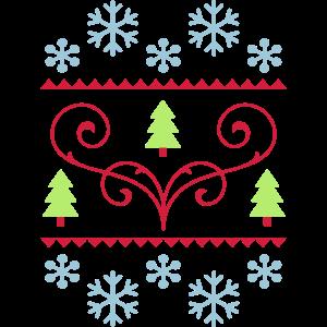 Weihnachtsstrickjacke