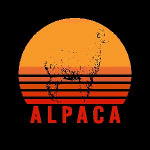 Alpaka Vintage Shirt Retro Alpaca Lama Geschenk