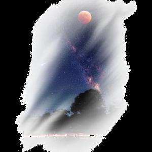 Mond Sterne Geschenk Nachthimmel