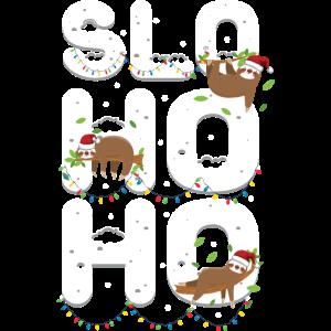 Slo Ho Ho Süßes Faultier zu Weihnachten