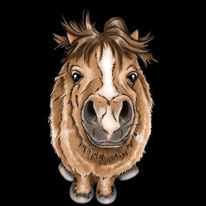 Kleines Pony knuffiges Pferd Illustration