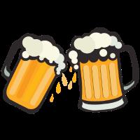 Bierglas Schaum Alkohol Binouze Zeichnung 2611 k