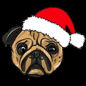 Weihnachten Mops
