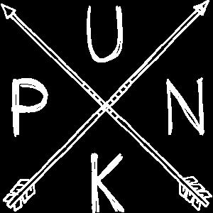 Punk Straight Edge Gekreuzte Pfeile