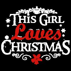 Dieses Mädchen liebt Weihnachtshemd