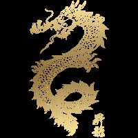 Kühler chinesischer Golddrache
