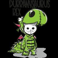 lustige Purranysaurus Katze