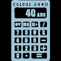 Taschenrechner 40 Jahrestag