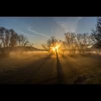 Sonnenaufgang an der Fränkischen Saale