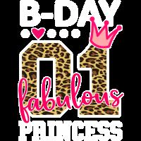 Nummer 01 Geburtstag Fabelhafte Prinzessin
