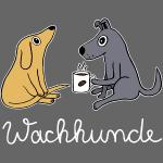 Wachhund trinkt Kaffee Koffein macht müde Hunde