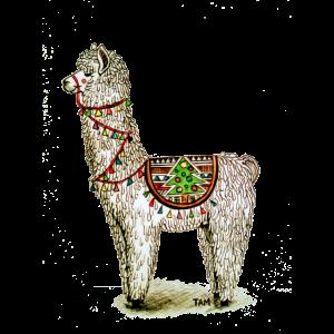 Kühler Alpaka Lama