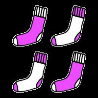 Pinke Socken