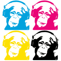 4 dj monkeys