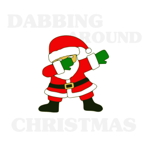 Dabbing around Christmas Weihnachten Geschenk Dab