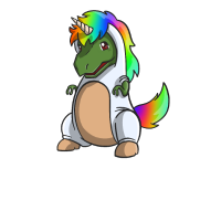 Dino im Einhornkostüm T-Rex Unicorn Geschenk