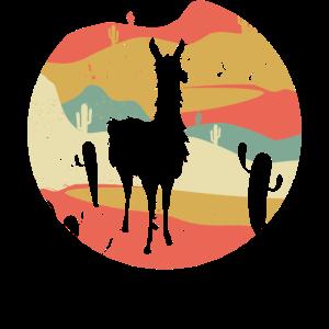 Retro Lama Geschenk Alpaka Vintage Llama