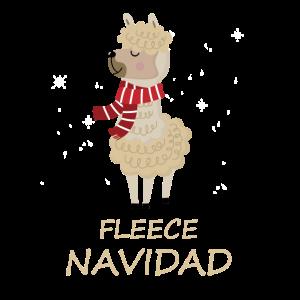 Fleece Feliz Navidad Funny Llama Christmas Gift